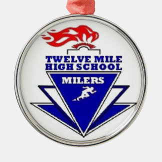 Twelve Mile, IN. High School Silver-Colored Round Decoration