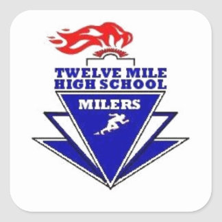 Twelve Mile, IN. High School Square Sticker