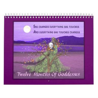 Twelve Months Of  Goddesses Calendars