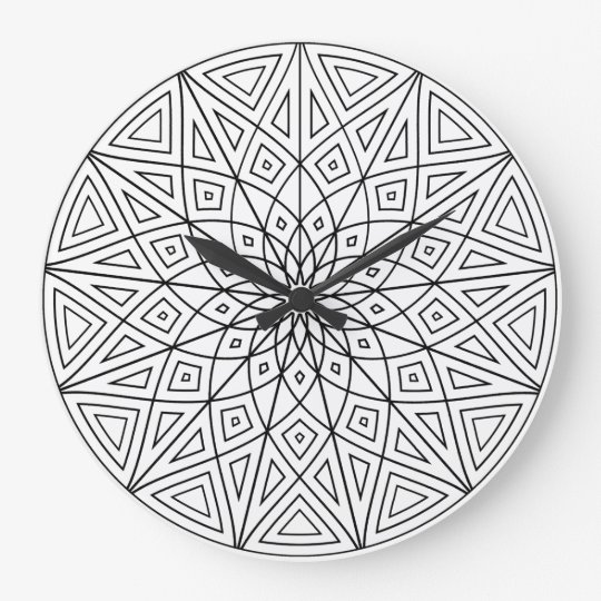 Twelve Point Mandala Clock