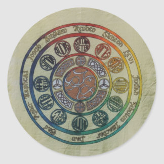 Twelve tribes and disciples classic round sticker