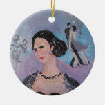 Twenties Dance round pendant by Marie Theron Christmas Ornaments