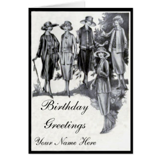 Twenties Fashion Birthday card