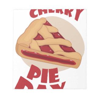 Twentieth February - Cherry Pie Day Notepad
