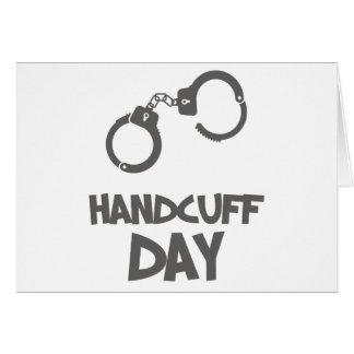 Twentieth February - Handcuff Day Card