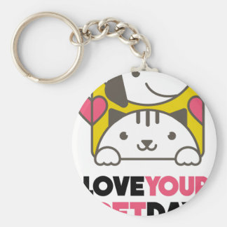 Twentieth February - Love Your Pet Day Key Ring