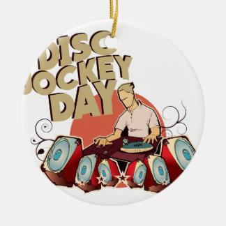Twentieth January - Disc Jockey Day Ceramic Ornament