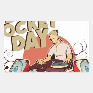 Twentieth January - Disc Jockey Day Rectangular Sticker
