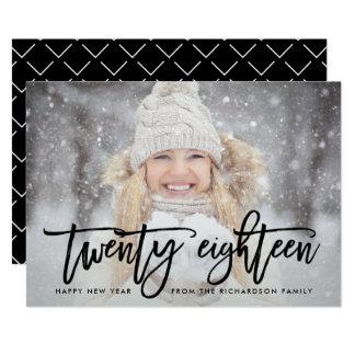 Twenty Eighteen | Trendy Typography with Photo Card