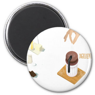 Twenty-eighth February - Chocolate Souffle Day 6 Cm Round Magnet
