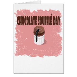 Twenty-eighth February - Chocolate Souffle Day Card