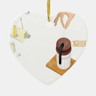 Twenty-eighth February - Chocolate Souffle Day Ceramic Heart Decoration