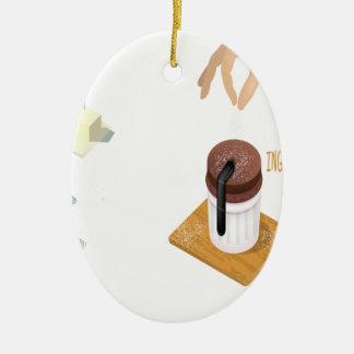 Twenty-eighth February - Chocolate Souffle Day Ceramic Oval Decoration