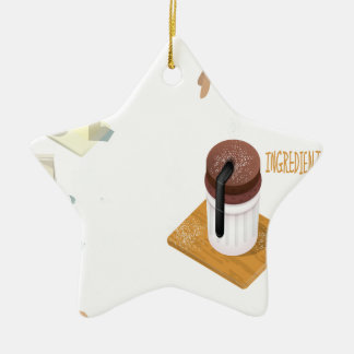 Twenty-eighth February - Chocolate Souffle Day Ceramic Star Decoration