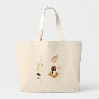 Twenty-eighth February - Chocolate Souffle Day Large Tote Bag