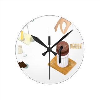 Twenty-eighth February - Chocolate Souffle Day Wall Clock