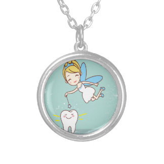 Twenty-eighth February - Tooth Fairy Day Silver Plated Necklace