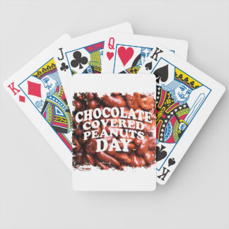 Twenty-fifth Februar Chocolate-Covered Peanuts Day Bicycle Playing Cards