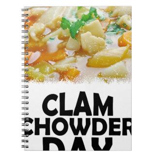Twenty-fifth February - Clam Chowder Day Notebook