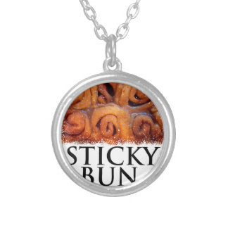 Twenty-first February - Sticky Bun Day Silver Plated Necklace