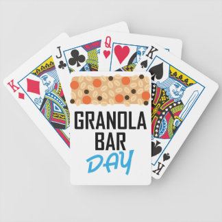 Twenty-first January - Granola Bar Day Bicycle Playing Cards