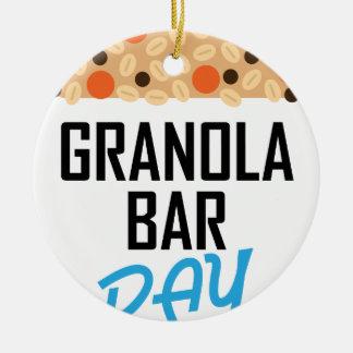 Twenty-first January - Granola Bar Day Ceramic Ornament
