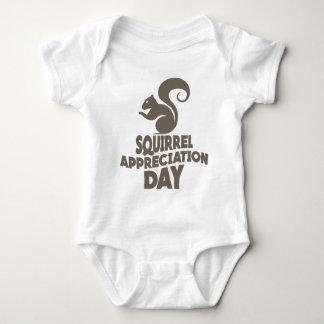 Twenty-first January - Squirrel Appreciation Day Baby Bodysuit