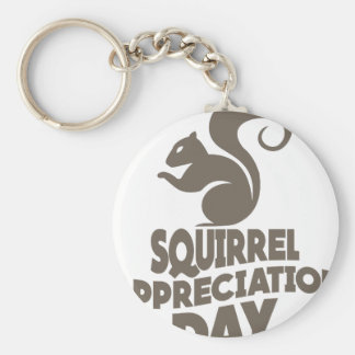 Twenty-first January - Squirrel Appreciation Day Basic Round Button Key Ring