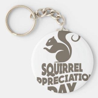 Twenty-first January - Squirrel Appreciation Day Key Ring