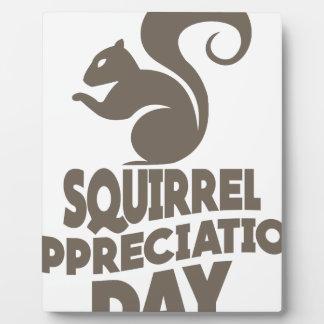 Twenty-first January - Squirrel Appreciation Day Plaque