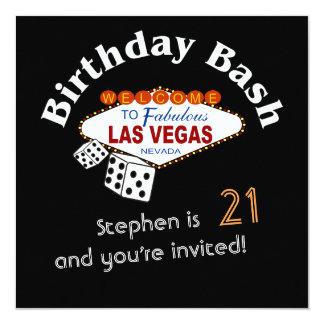 Twenty-first Vegas Birthday Party Invitation