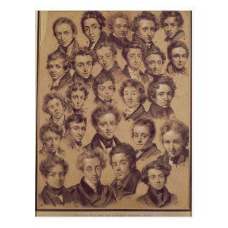 Twenty Five Pupils from the Studio of Antoine Postcard