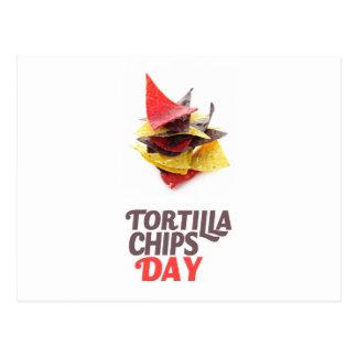 Twenty-fourt February - Tortilla Chip Day Postcard