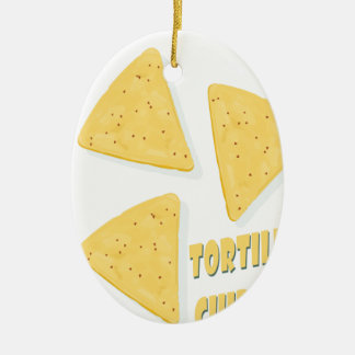 Twenty-fourth February - Tortilla Chip Day Ceramic Ornament