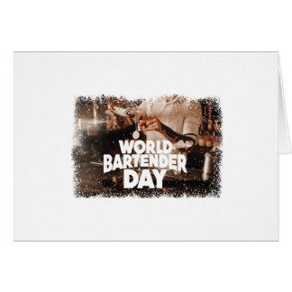 Twenty-fourth February - World Bartender Day Card
