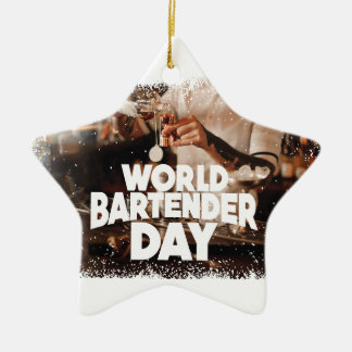 Twenty-fourth February - World Bartender Day Ceramic Ornament