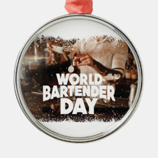 Twenty-fourth February - World Bartender Day Metal Ornament