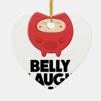 Twenty-fourth January - Belly Laugh Day Ceramic Heart Decoration