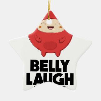 Twenty-fourth January - Belly Laugh Day Ceramic Star Decoration