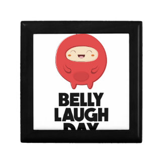 Twenty-fourth January - Belly Laugh Day Small Square Gift Box