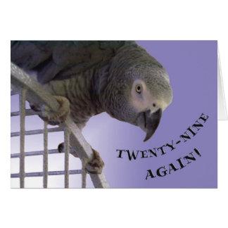 Twenty-Nine Again Card