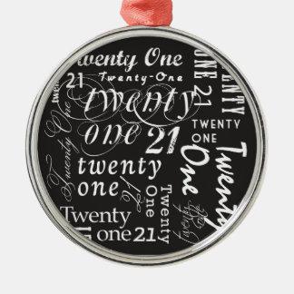 Twenty One Christmas Tree Ornament