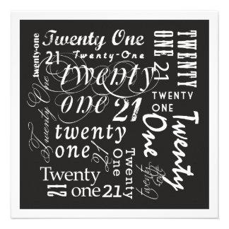 Twenty-One Personalised Invitation