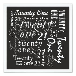 Twenty-One Invite