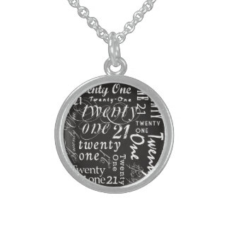 Twenty One Sterling Silver Necklace