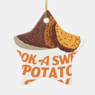 Twenty-second February - Cook a Sweet Potato Day Ceramic Ornament