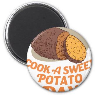 Twenty-second February - Cook a Sweet Potato Day Magnet