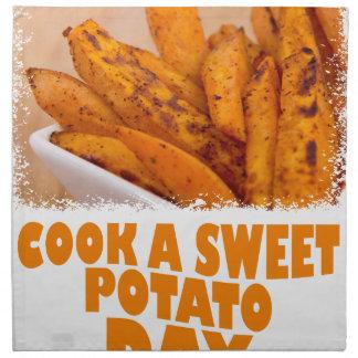 Twenty-second February - Cook a Sweet Potato Day Napkin