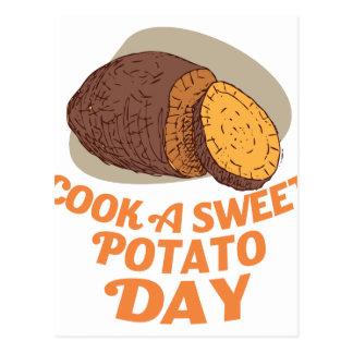 Twenty-second February - Cook a Sweet Potato Day Postcard