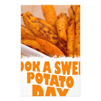 Twenty-second February - Cook a Sweet Potato Day Stationery